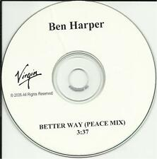 BEN HARPER Better Way RARE PEACE MIX PROMO DJ CD single
