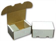(2) 300 ct Cardboard Football Baseball Card Storge Box