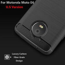 Para Motorola Moto E4 La Fibra De Carbono Silicona Fundas y carcasas U.S Version