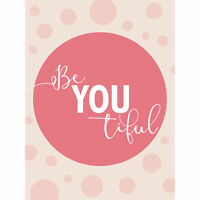 Be You Beautiful Pink Large Canvas Wall Art Print
