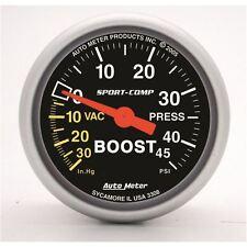 "AutoMeter 3308 Gauge, Vac/Boost, 2 1/16"", 30inHg-45psi, Mechanical, Sport-Comp"