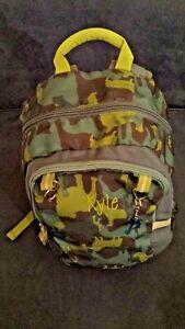 Garnet Hill Signature Backpack  Dogs Camouflage Dog Blue Green Monogram Kyle.