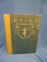 Book Heidi by Johanna Spyri 1915 published illustrations by Maria Kirk children
