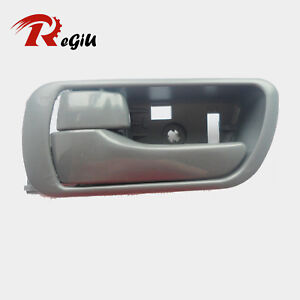 Fit 02-06 Toyota Camry Inside Inner Front Rear Left Side Driver Gray Door Handle