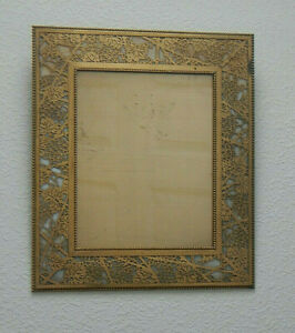Picture Frame - Antique Picture Frame - Tiffany Studios - Brass and Art Glass