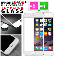 Full Coverage Tempered Glass Screen Protector For Apple iPhone 6 Plus 6S Plus