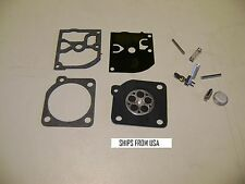 HUSQVARNA 136 137 141 142  CHAINSAW ZAMA C1Q CARBURETOR CARB REPAIR KIT DR124