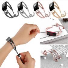 Fitbit inspire / inspire Hr Replacement Diamond Metal Strap Elegant Wrist Band D