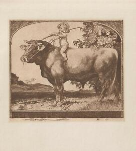 Ex librisArt Nouveau-Jugendstil Exlibris by SODER ALFRED (1880 -1957) Germany