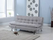 Upholstered Sofa Couch Bed Sleeper Convertible Living Room Furniture Futon Grey