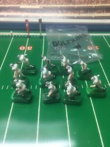 Vintage Tudor Electric Football Players 11 Miami Dolphins W/Bases