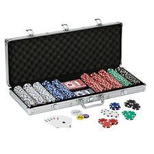 New listing Fat Cat Texas Hold'em 500 Claytec Chip Set w/ Aluminum Case Dealer Button Poker