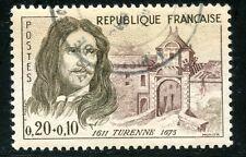 STAMP / TIMBRE FRANCE OBLITERE N° 1258 HENRI DE LA TOUR D'AUVERGNE