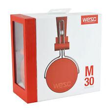 Wesc-m30 Built-in Microphone Headphones Professionally Tuned 40mm Drivers Orange
