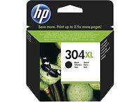 1x HP NO 304xl Alta Capacidad Negro Original Oem Cartucho de Tinta n9k07ae