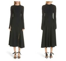 NEW! Khaite Melinda Split Cuff Asymmetrical Midi Dress (4)