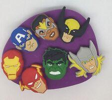Marvel Los Vengadores De Silicona Molde/Molde. Magdalena. Topper. Hulk. capitán América. Thor. ect