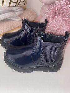 Baby Girl Navy Zara Boots Size 21