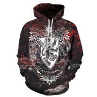 Wizarding World Of Harry Potter Gryffindor House Logo Men Pullover Hoodie Jacket