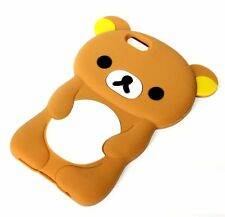 For iPhone 7 / 8 - Soft Silicone Rubber Skin Case Cover 3D Brown Teddy Bear
