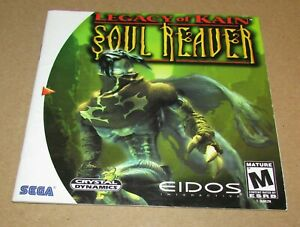 Legacy Of Kain Soul Reaver (Instruction Manual Only) Sega Dreamcast Authentic