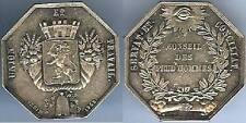 Jeton - LYON 1843 conseil prudhommes PENIN sculpteur d=29,6mm argent+corne 13 gr