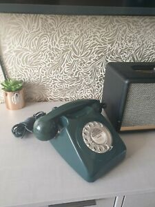 Vintage Green Rotary Dial up Telephone need tlc
