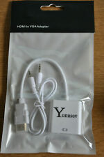 1080p hdmi mâle vers vga Femelle video convertisseur adaptateur + audio
