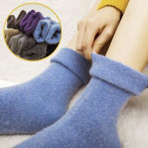 Angora Cashmere Women Girls Socks Luxury Warm Wool Sock 1 Pairs Xmas Gift I OL8E