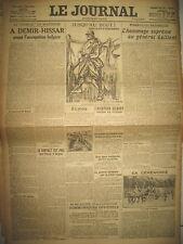 8650 WW1 MACEDOINE HOMMAGE GALLIENI DESSIN RAEMAEKERS COMMUNIQUé LE JOURNAL 1916