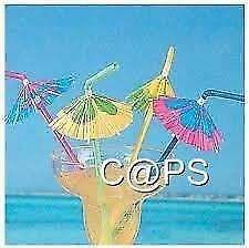 12 x Umbrella Hibiscus Cocktail Straws...Hawaiian Tropical Luau...Beach Party...