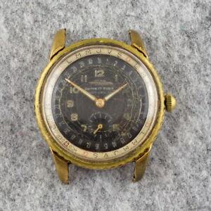 Vintage ACOR Calendar 1950s watch - 37mm - Rotating bezel - Swiss - For repair