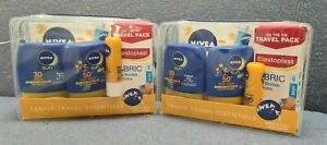 Nivea Sun, Family Travel Essentials Including Beach Ball and Plasters. PACK OF 2