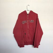 Vintage Gravis Skate Shoes Hoodie XL red Logo Spell Out Dylan Reider EUC