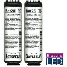 2 Batterie pila allarmi Daitem logisty BAT28 3.6V 2Ah LITIO equivalente BatLi28