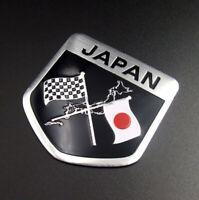 Japan Japanese Flag Shield Emblem Metal Badge Decal Car Auto Sticker Accessories