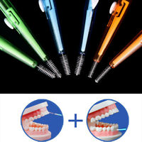10X Clean Tooth Floss Head Hygiene Dental Plastic Interdental BrushTEUS