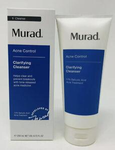 Murad Acne Control CLARIFYING CLEANSER Step 1 6.75 Oz / 200ml - NEW - SEALED