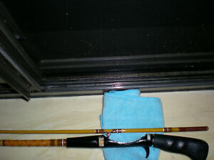NOS,Vintage,Fiberglass,Spin-Cast Rod 6' 2pc.4-12lb.Med-Fast-Tip-Action.Mint Cond
