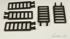 LEGO - 5 x Burg - Leiter / Burgleiter / Zaun 7x3 mit Clip schwarz / 6020 NEUWARE