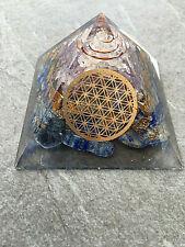 Orgonit Pyramide - Lapislazuli Blume des Lebens programmiert nach Agnihotra 478