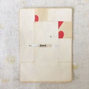 Trust - original art mixed media collage playing card unframed