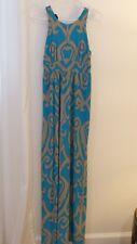 Size XS INC International Concepts Maxi Dress turquoise beige summer wedding