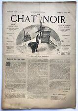 Rare revue, journal, Le Chat Noir. N° 135 du 9 août 1884