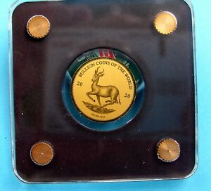 1/500 Oz Springbock 2020 999 Gold Münze 3000 Francs  Tschad