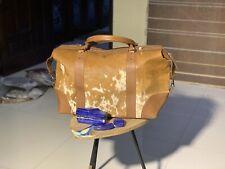 genuine cowhide leather handbag Cowhide duffle Ladies Bag