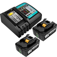 2Pack 5.0Ah For Makita BL1850 Battery & Charger 18V Lithium DC18RC BL1840 BL1860