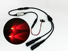 Micro Effects Light 2X red LED & control flash blink strobe 9V prop MELKITR-4B