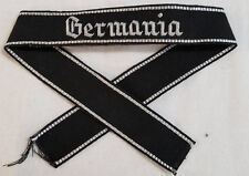 WWI WW2 German Elite GERMANIA hand sewn cuff title patch uniform insignia