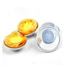Aluminum 5pc Egg Tart Baking Mould Cake cup Tart Tins Fruit Tart round mold 521